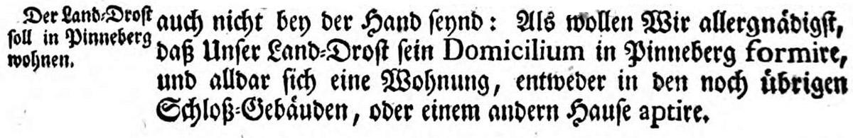 Verordnung des dänischen Königs