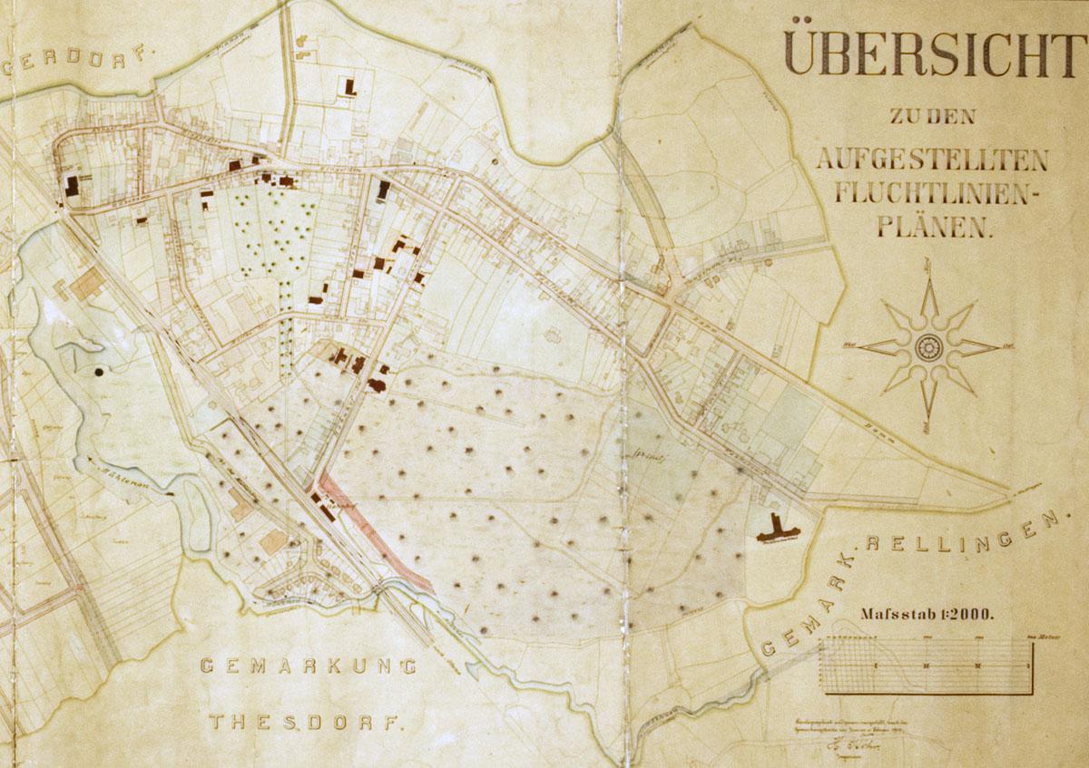Stadtplan Pinneberg 1903