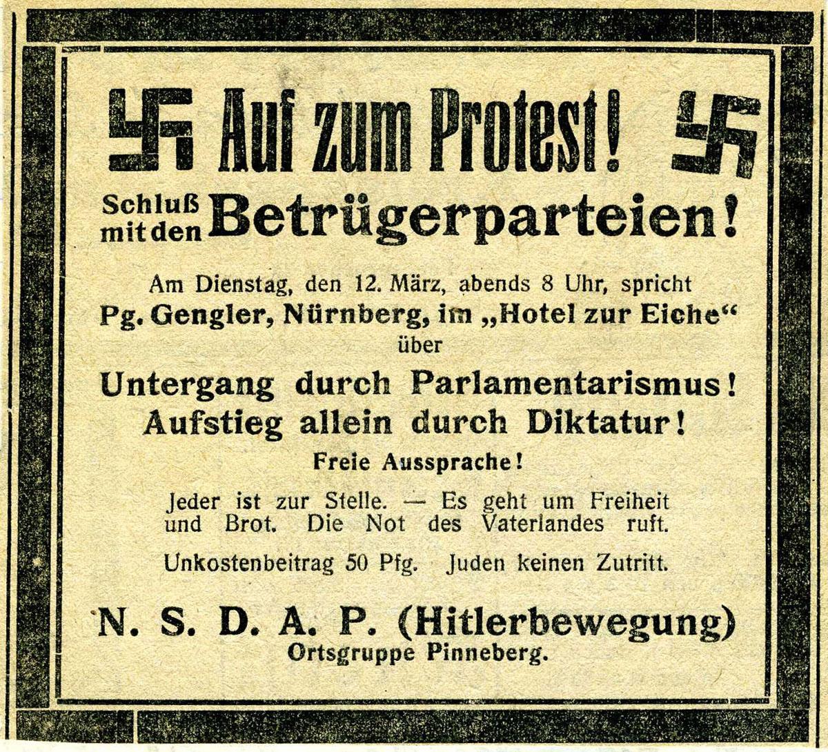 Auf zum Protest