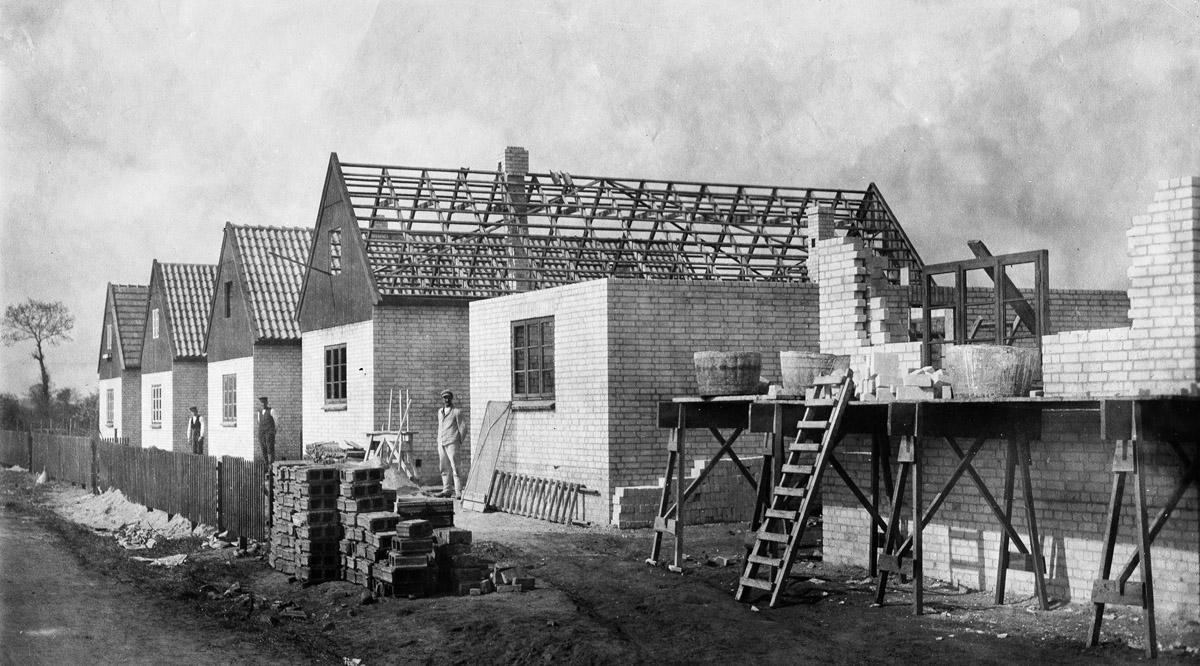 Sozialer Wohnungsbau am Blauen Kamp 1920/21
