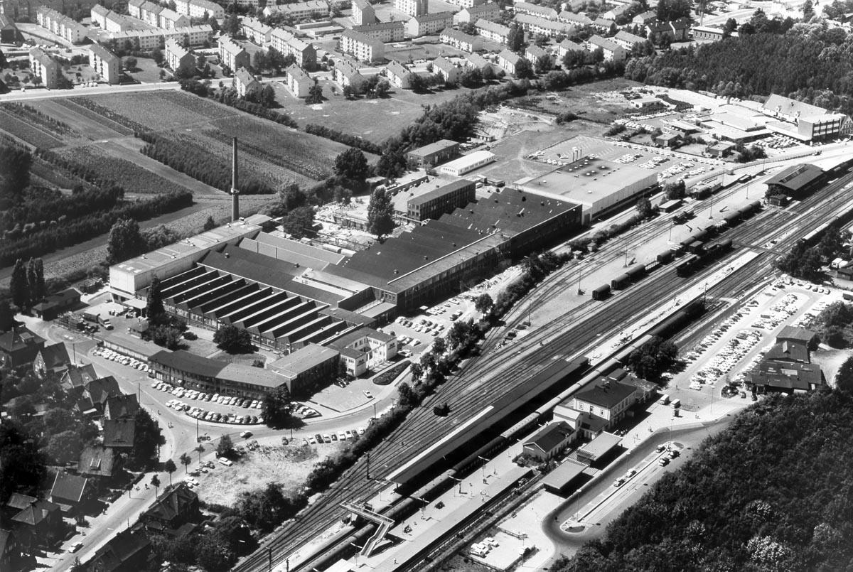 Luftbild des ILU-Werks um 1970