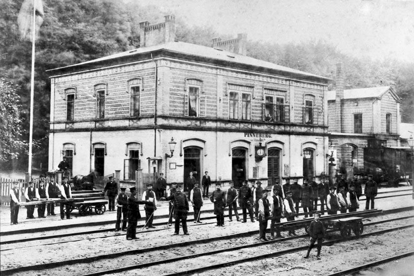 Bahnhof Pinneberg vor 1890
