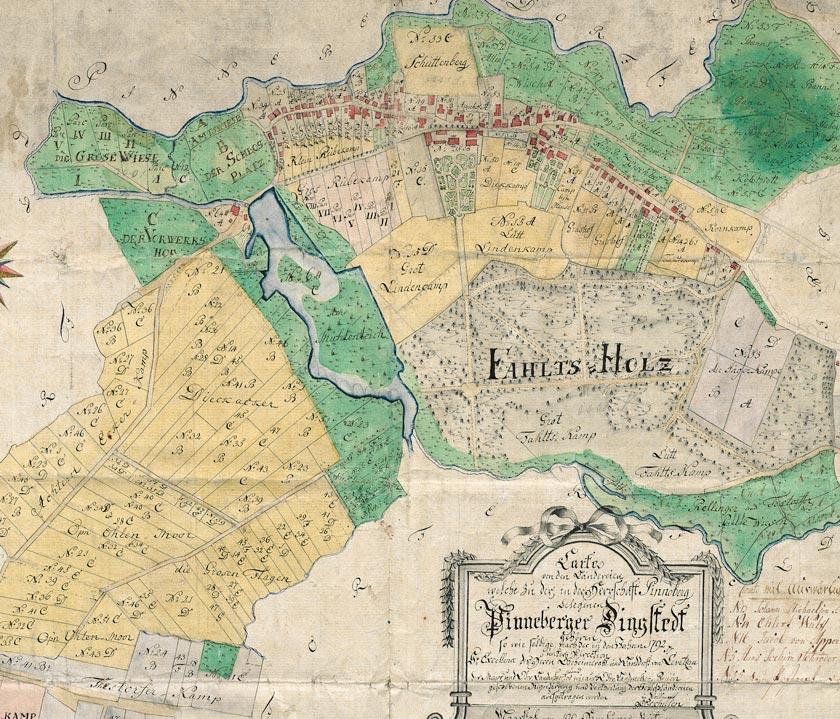 Auszug aus der Verkoppelungskarte von 1792