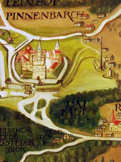Das Schloss auf Freeses Landtafel von 1588