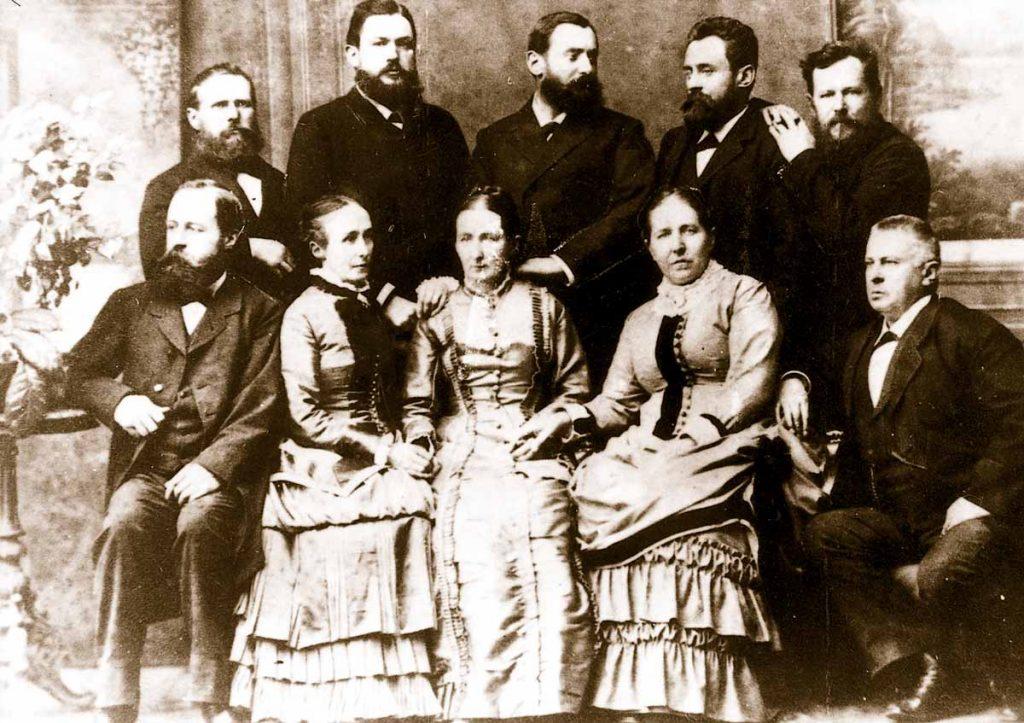 Theodor Schlüter (oben rechts) mit seinen neun Geschwistern